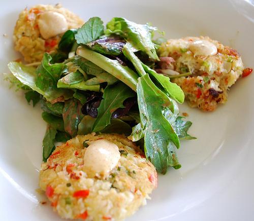 Crab Cake Salad, Luisa's Cafe.